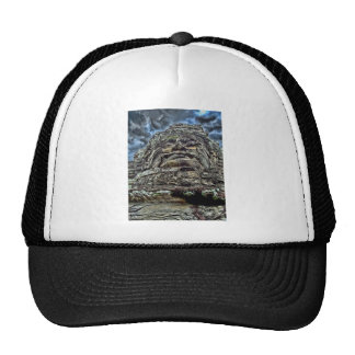 Dramatic Stone Face Trucker Hat