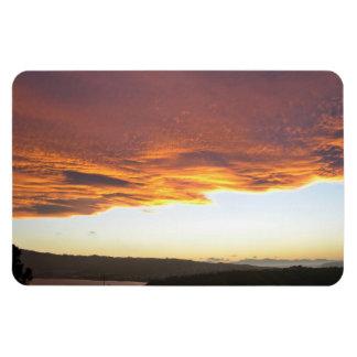 Dramatic Sunset over lake Rectangle Magnet