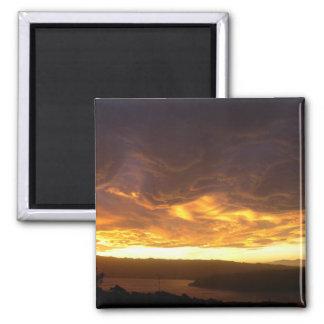 Dramatic Sunset Over Porirua, New Zealand Magnet