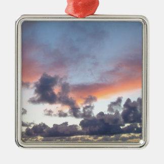 Dramatic sunset sky christmas ornament