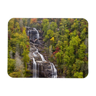 Dramatic Whitewater Falls in autumn in the Rectangular Photo Magnet