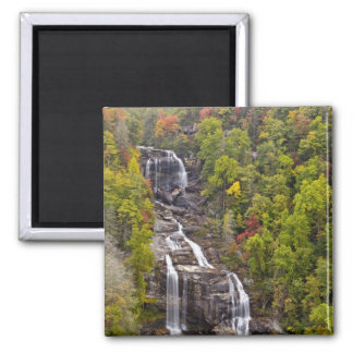 Dramatic Whitewater Falls in autumn in the Square Magnet