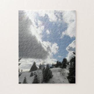 Dramatic winter sky jigsaw puzzle