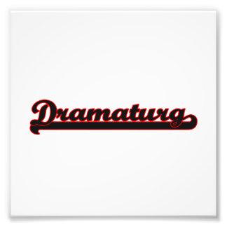 Dramaturg Classic Job Design Photo