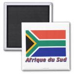 Drapeau Afrique du Sud avec le nom en français