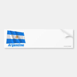 Drapeau Argentine avec le nom en français Bumper Sticker