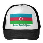 Drapeau Azerbaïdjan avec le nom en français