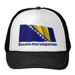 Drapeau Bosnie-Herzégovine avec le nom en français