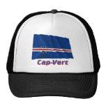 Drapeau Cap-Vert avec le nom en français