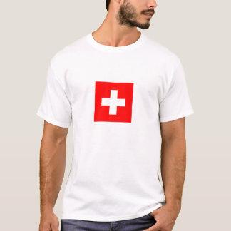 drapeau de la Suisse flag of Switzerland T Shirt