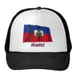 Drapeau Haïti avec le nom en français