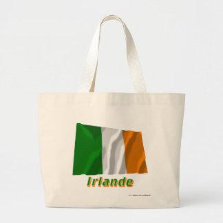 Drapeau Irlande avec le nom en français Canvas Bags