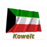 Drapeau Koweït avec le nom en français
