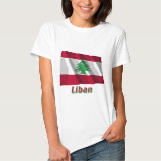Drapeau Liban avec le nom en français Shirts