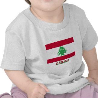 Drapeau Liban avec le nom en français Tees