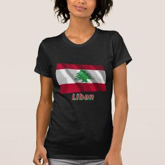 Drapeau Liban avec le nom en français Tshirt