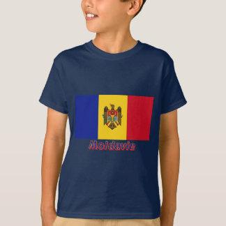 Drapeau Moldavie avec le nom en français T-Shirt