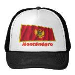 Drapeau Monténégro avec le nom en français Cap