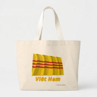 Drapeau Sud-Viêt Nam avec le nom en français Canvas Bags