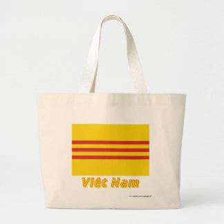 Drapeau Sud-Viêt Nam avec le nom en français Tote Bag