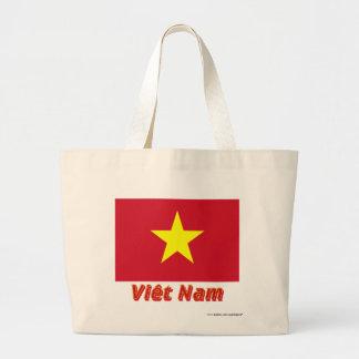 Drapeau Viêt Nam avec le nom en français Tote Bags