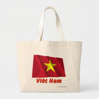 Drapeau Viêt Nam avec le nom en français Jumbo Tote Bag