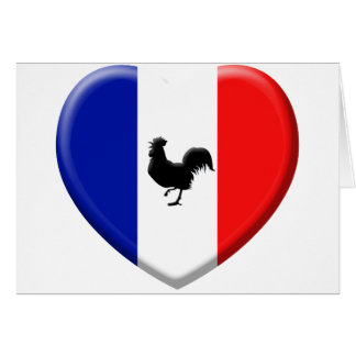 Drapeaux France coils cock Greeting Card