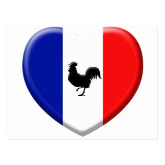 Drapeaux France coils cock Postcard