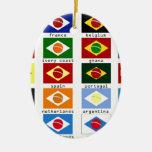 drapeaux pour la coupe du monde au brésil ceramic oval decoration