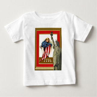 Draped in the stars and stripes baby T-Shirt