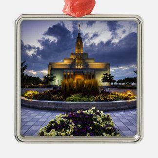 Draper Mormon Lds Temple - Utah Silver-Colored Square Decoration