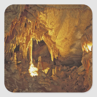 Drapery Room, Mammoth Cave National Park, Square Stickers