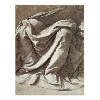 Drapery study for a Seated Figure, c.1475-80 Postcard