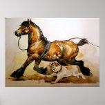 Draught   Horse And Bulldog Poster Print