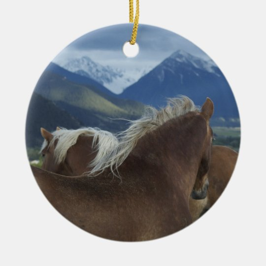 Draught Horses Christmas Ornament