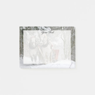 Draught   Horses Christmas Personalised Post-it Notes