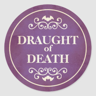 Draught of death purple Halloween potion sticker