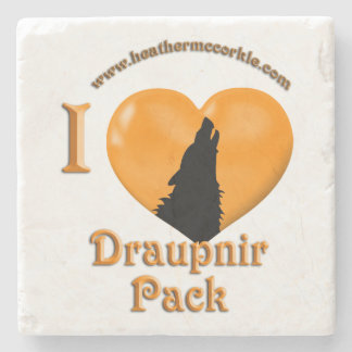 Draupnir Wolves of Hemlock Hollow Coaster Stone Beverage Coaster