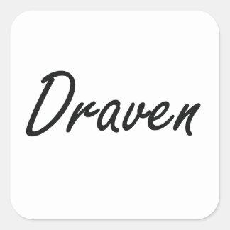 Draven Artistic Name Design Square Sticker