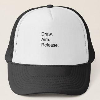 Draw. Aim. Release Trucker Hat