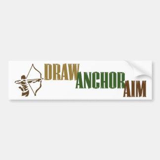 Draw. Anchor. Aim. Car Bumper Sticker