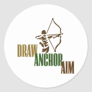 Draw. Anchor. Aim. Classic Round Sticker