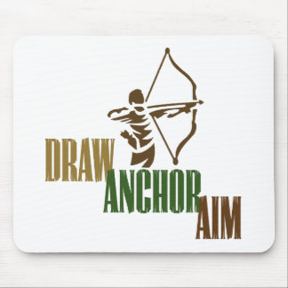 Draw. Anchor. Aim. Mouse Mat