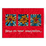 draw on your imagination greeting card