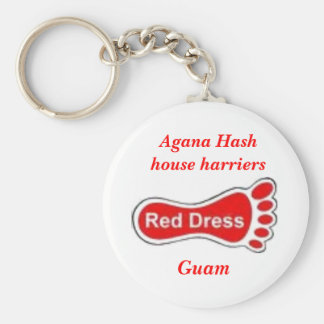 draw_pic, Agana Hash house harriers, Guam Basic Round Button Key Ring