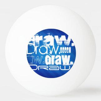 Draw, Royal Blue Stripes Ping Pong Ball