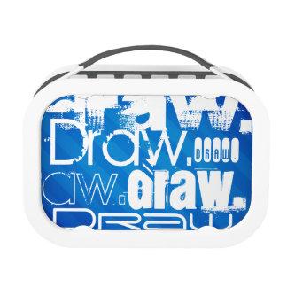 Draw, Royal Blue Stripes Yubo Lunchbox