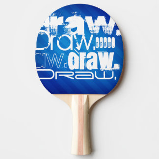 Draw, Royal Blue Stripes Ping-Pong Paddle