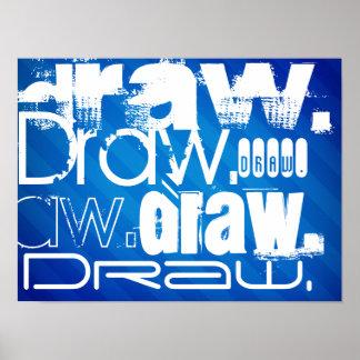 Draw, Royal Blue Stripes Poster