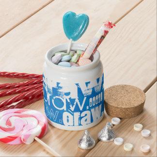 Draw, Royal Blue Stripes Candy Jars